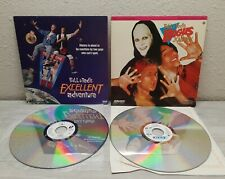 Lot of 2 Bill and Ted's Excellent Adventure + Bogus Journey Laserdisc