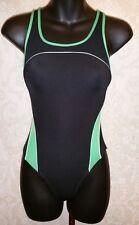 SPEEDO Girls One Piece Racerback Green/Black Swimsuit Sz 10/26 #3455