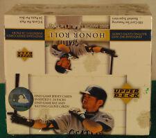 2002 Upper Deck Honor Roll Baseball Factory Sealed Box--24 Packs