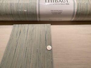 8YD THIBAUT T3989 NIRA Robin's Egg Artisanal Grasscloth Wallpaper $650 Retail