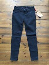 True Religion Womens Jeans Black W27 L29 Casey Skinny Crystal Stitch BNWT