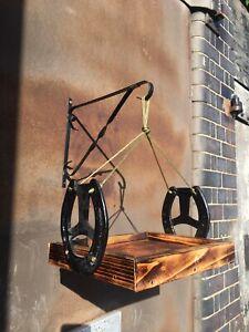 Handmade Hanging Horseshoe Bird Feeding Table