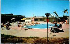 Mesa, Arizona Postcard HOLIDAY VILLAGE Mobile Home Resort, Pool Scene 1964