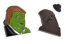 Smug Trump Pepe The Frog Enamel Lapel Pin - 4chan Kek Dank Meme Badge Button
