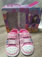 NIP Skechers Twinkle Toes Lil Hipster Infant/Toddler Girls Size 3 Groovy Baby