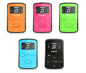 Sandisk Sansa Clip Jam 8GB MP3 Player FM Radio Micro SD slot