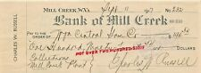 MILL CREEK WEST VIRGINIA~LOT OF 2~BANK OF CHECKS~1917 & 1933