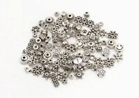 Lots Mixed 100pcs Tibetan Silver Star Flower Daisy Spacer Beads Jewelry DIY HN