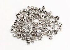 Lots Mixed 100pcs Tibetan Silver Star Flower Daisy Spacer Beads Jewelry DIY HN