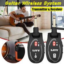 UHF 50M Range 2.4G Wireless Guitar Bass System Transmitter & Receiver USB