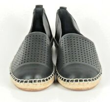 Vince Camuto Black Leather Dandee Perforated Espadrilles Womens Size US 8M NWOB