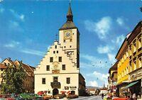 Deggendorf an der Donau Stadtplatz mit Rathaus Town Hall Auto Cars