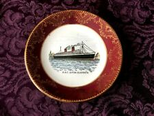 """Weatherby Hanley, Royal Falcon Ware - R.M.S. Queen Mary 6 1/2"""" Plate"""