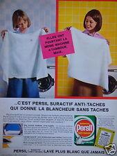 PUBLICITÉ 1965 LESSIVE PERSIL ELLES ONT POURTANT LA MÊME MACHINE - ADVERTISING