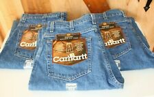 Lot of 3 ~ Carhartt Relaxed Fit Denim Jeans ~ Men's Big and Tall Size 32x38