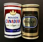 Vintage Pair of MOLSON CANADIAN & BRADOR  BEER DISPLAY EMPTY CAN - No Tax