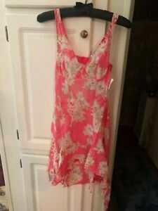 Fredericks of Hollywood Sheer Gown / Size Med / NWT / Guava in Color