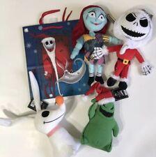 Nightmare Before Christmas Jack Skellington Sally Zero Plush Gift Set NEW