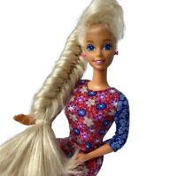 Vintage 90's Totally Hair Barbie Blonde Fashion Doll Mattel Twist N' Turn 1991