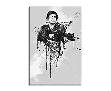 90x60cm PAUL SINUS Splash Art Gemälde Kunstbild Al Pacino Scarface