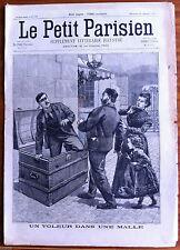 Le petit Parisien illustré 24/12/1899; Un voleur dans une malle