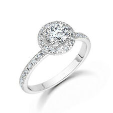 Ct Diamond Anniversary Band 5 6 7 Solid 18K White Gold Solitaire Ring Real 1.00