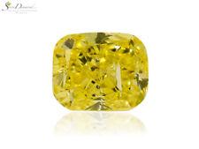 Diamond Natural Color Fancy Vivid Yellow 1.81 carat Loose Cushion Cut GIA cert