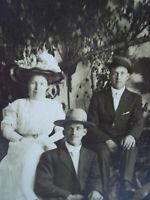 Vintage Cabinet Photo Postcard Woman 2 Men Blank Back Council Crest Portland