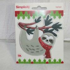 New Christmas Iron on appliqué Sloth Simplicity