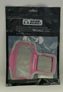 Gear Beast Grey Pink Iphone Sports Armband NIP NEW ABSF-1PH-GYPK