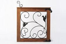 Garden Gate, Wood and Iron Feature, Classic Design, Teak