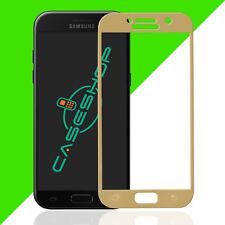 3D Displayschutz für Samsung A5 2017 Hartglas Panzerfolie Schutz Glas 9H Gold