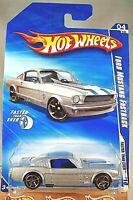 2010 Hot Wheels #130 Faster Than Ever 4/10 FORD MUSTANG FASTBACK Silver w/FTE SP
