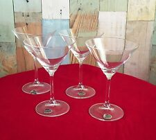 Lovely Bohemia Crystal Champagne Cocktail Glasses x 4 *Maxima Design