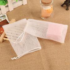 20pcs Soap Net Bubble Maker Foaming Cleansing Saver Bag Sack Pouch Holder Mesh