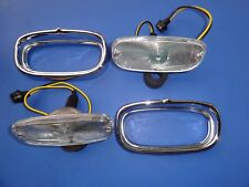 1958 & 1959 CHEVROLET TRUCK PARKING LIGHT ASSEMBLY-CLEAR LENS-COMPLETE-PAIR