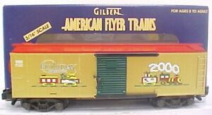 American Flyer 6-48340 S Scale 2000 Christmas Boxcar LN/Box