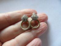 Pretty pair of ab crystal set ring drop earrings for pierced ears 40-49