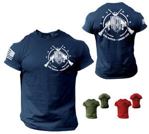American Patriotic USA American Pride T-Shirt Military Veteran 2nd Amendment