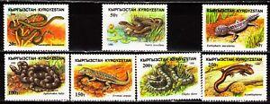 Kyrgyzstan 1996 Sc99-105 Mi107-13 7v mnh Reptiles