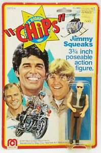"""Chips Jimmy Squeaks 3.75"""" Poseable Action Figure 1977 Mego Corp No. 08010/4 NRFP"""