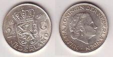 2 1/2 Gulden Silber Münze Niederland 1960 (114068)