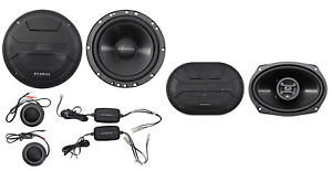 """Hifonics ZS65C 6.5"""" 800w Component Car Speakers+(2) 6x9"""" 800w Coaxial Speakers"""