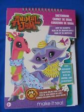 ANIMAL JAM Design Sketchbook  w/Stickers & Stencils and with masterpiece token