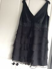 Monsoon Silk Black Dress UK Size 22 RRP £100 Worn Once Excellent Con