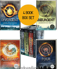 Divergent 1-4 Divergent,Insurgent,Allegiant,Four (pb, box set) Veronica Roth New