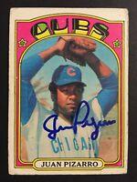 Juan Pizarro Cubs Signed 1972 Topps Baseball Card #18 Auto Autograph 1