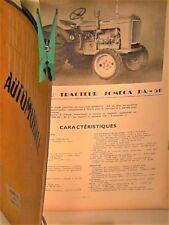 RARE REVUE TECHNIQUE 1954 ROVER 75  /TRACTEUR SOMECA DA 50