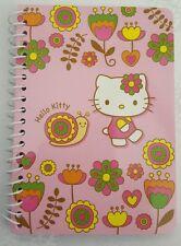 Sanrio Hello Kitty Spiral Notebook Flowers Snail