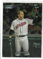 2018 Topps stadium club chrome parallel Jim Thome scc-141 Cleveland Indians